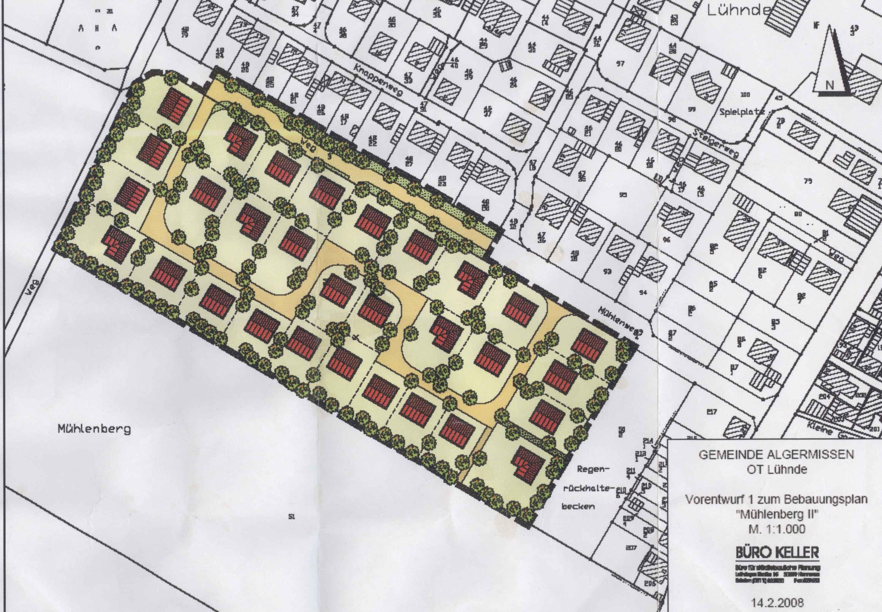 Vorentwurf Neubaugebiet